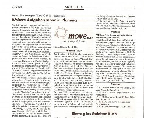 080611_WieWo Move-Projektgruppe Schul-Geh-Bus gegründet / Weitere Aufgaben schon in Planung