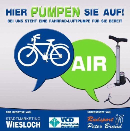 Hier pumpen sie auf! - Initiative von Stadtmarketing Wiesloch e.V. und move,