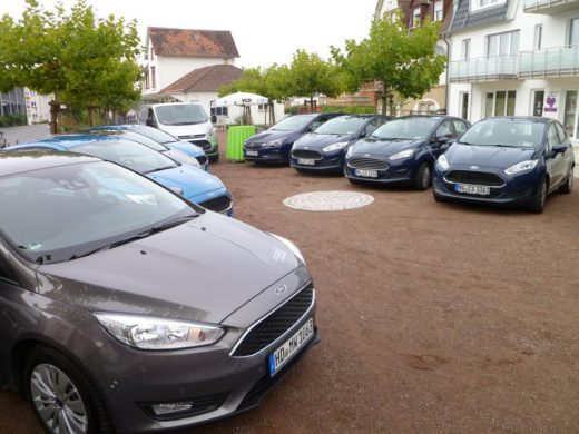 Wieslocher Carsharing-Fuhrpark im September 2017