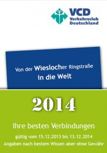Fahrplanbroschüre 2014
