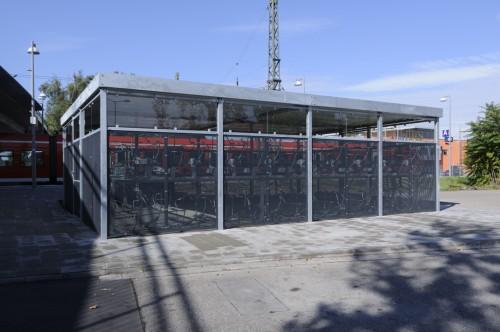 Fahrradparkhaus am Bahnhof Wiesloch/Walldorf