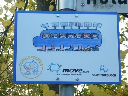 Das Laufbus-Schild