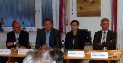 Podiumsveranstaltung zur LTW am 25.2.16 in Wiesloch