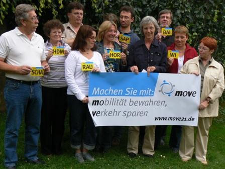 Ein Teil der Registrierten aus Baiertal
