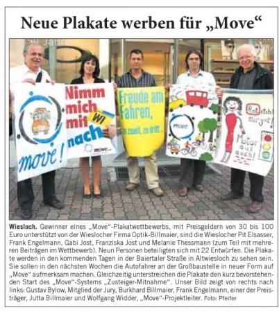 Neue Plakate werben fuer move